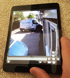 cctv on smartphone Minchinhampton